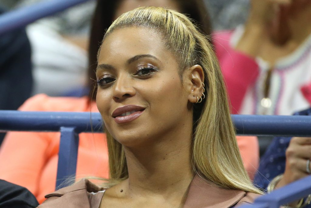 Beyonc at a sports event