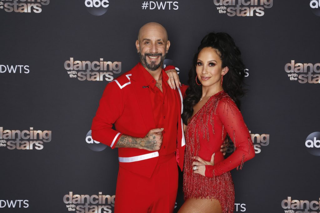 AJ McLean and Sheryl Burke on 'Dancing with the Stars'