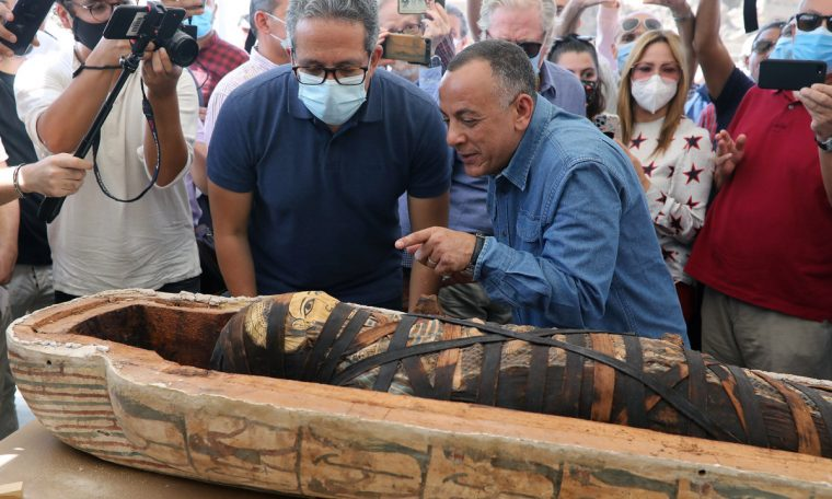 Dozens of ancient coffins were unearthed in Egypt