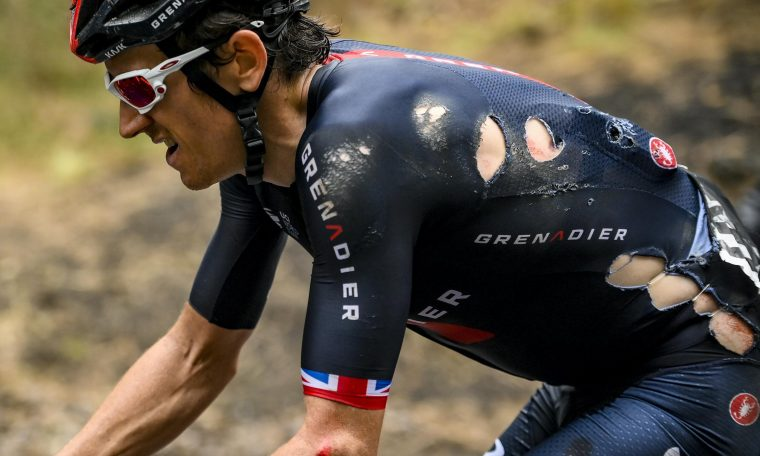 Geraint Thomas withdrew from Giro d'Italia as Arnaud Demre won stage four