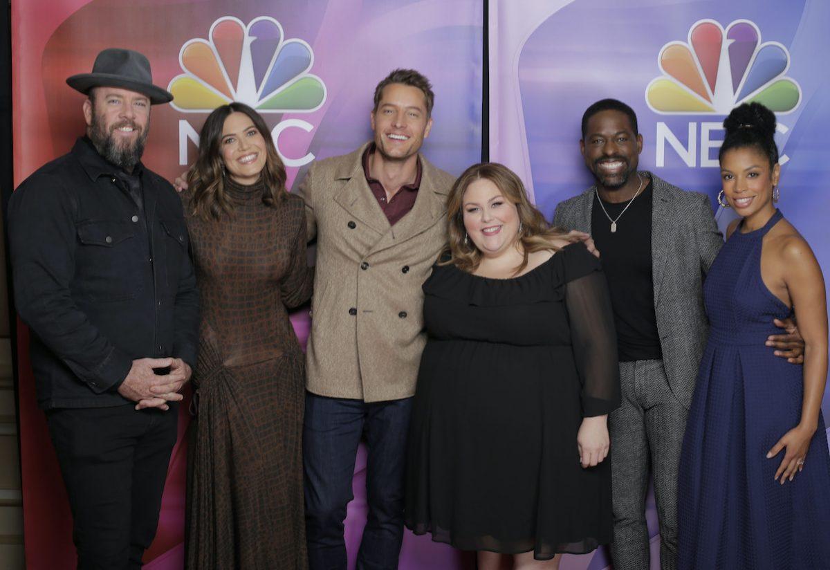 Chris Sullivan, Mandy Moore, Justin Hartley, Chrissy Metz, Sterling K.  Bra, N, and Susan Kalechi Watson are an NBC.