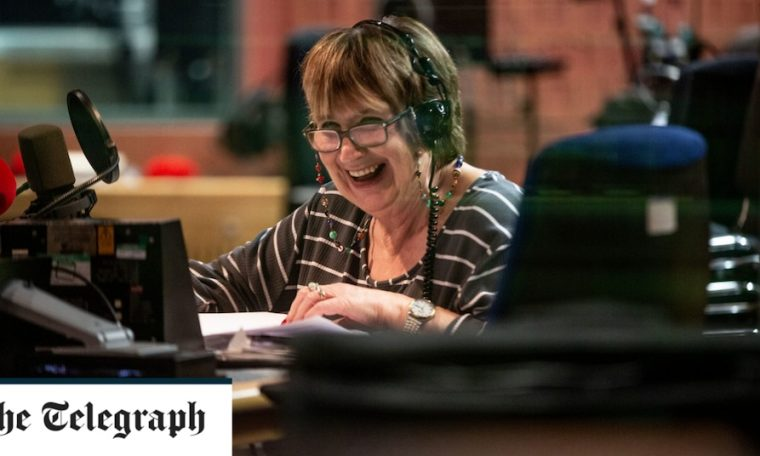 Jenny Murray, host of Women's Hour, leaves during a scathing attack on the BBC after she announced the Brexit ban.