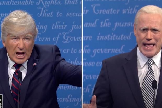 Jim Carrey Binnen vs. Alec Baldwin as Trump in Saturday Night Live Parody