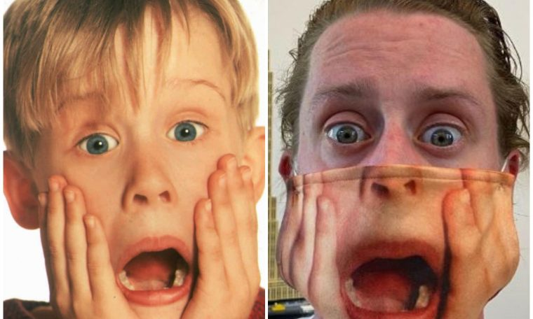 Macaulay Culkin poses in Home Alone 2 Face Mask and the Internet goes wild