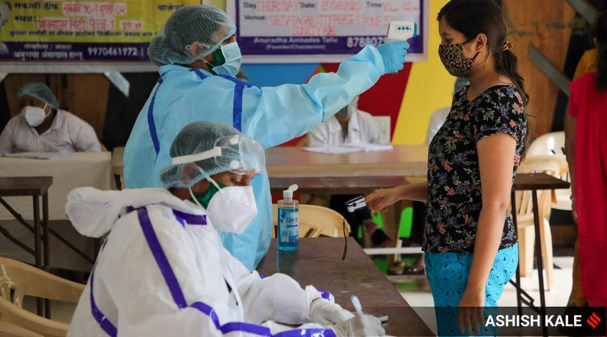 Mumbai covid case, Mumbai coronavirus case, Mumbai private hospital vacant, Mumbai News, Maharashtra News, Indian Express News