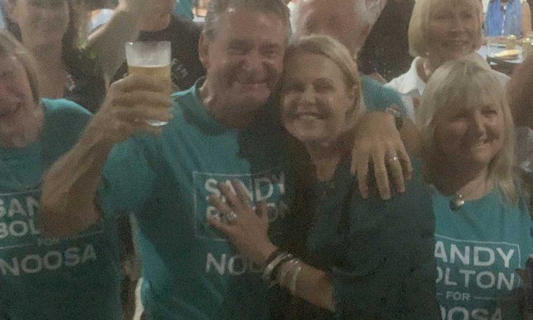 Noosa MP Sandy Bolton and her partner Ian