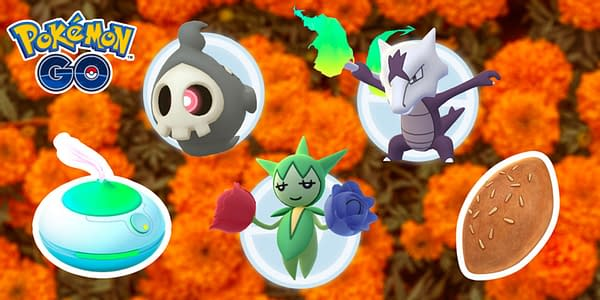 Day of the Dead promotional images for Pokemon Go.  Credit: Nintendo