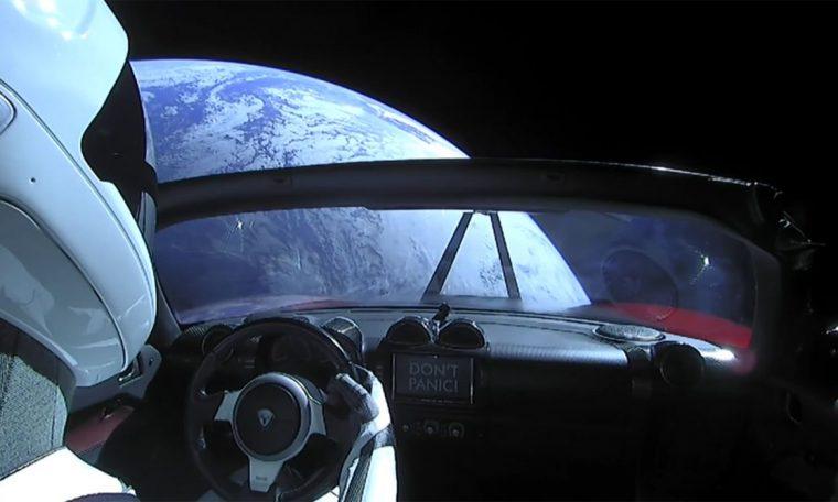 'Starman' zipped up its fast-falling Tesla Roadster last Tuesday