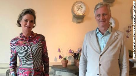 King Philippe and Princess Delphine first met on October 9 at the official residence of the Belgian royal family.