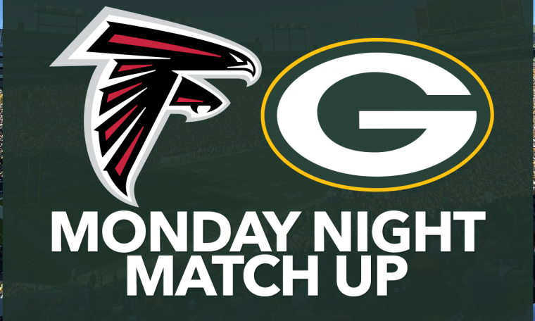 The Green Bay Packers led the Falcons 27-16 in 4 with a score of 1