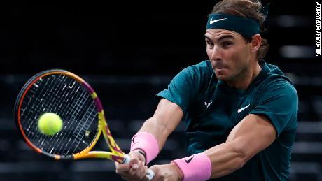 Nadal sent compatriot Lopez back.