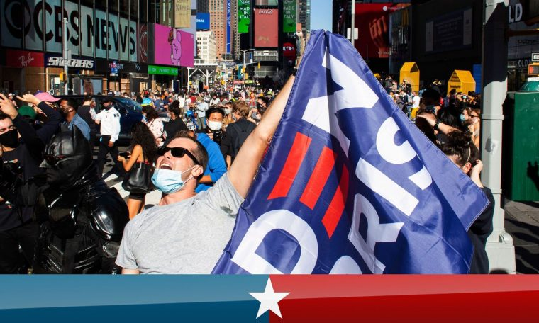US election results: Cheers and tears in the streets in response to Biden's victory.  World News