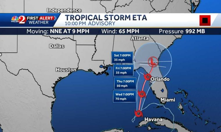 Florida is watching as Eta moves north