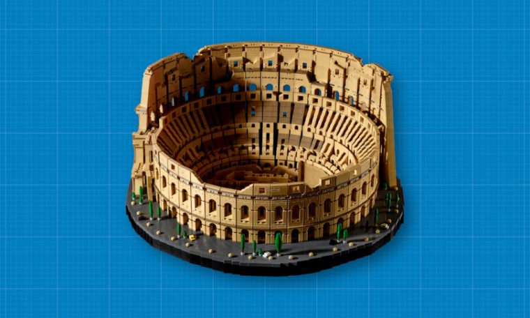 The Lego Roman Colosseum is the largest ever with 9,036 pieces