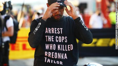 Lewis Hamilton did not stop & # 39;  Her fight against racism is out of FIA's investigation of Brevana Taylor T-shirt