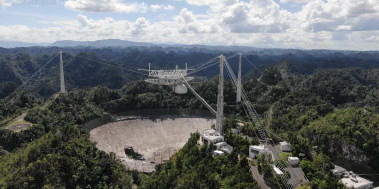 The large bowl of Arecibo Observatory has reached the end of the line