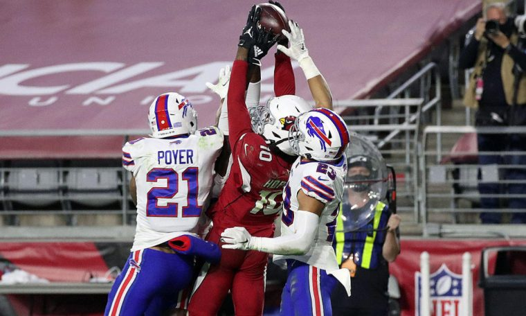 Cardinals WR Diender Hopkins joins 'Madden 99 Club' after Hale Mary's catch