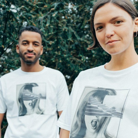 The pair's model is based in London's able-bodied, gender-neutral T-shirt.