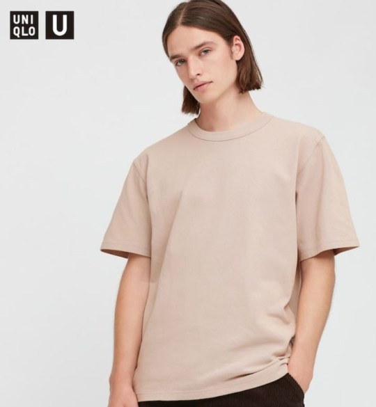 Models for Uniclo's gender neutral fashion, wearing tunnel T-shirts.