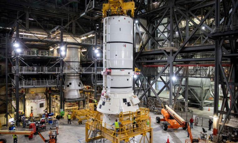 NASA began collecting rockets for the Artemis Moon mission