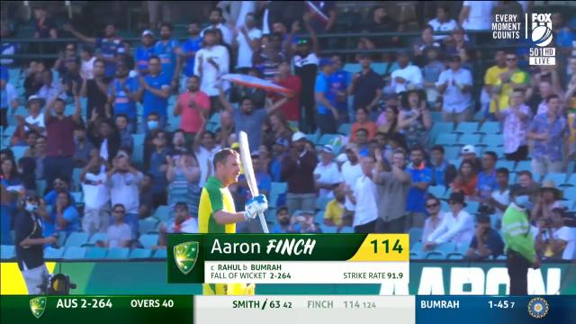Finch beat the Indians by 114 runs
