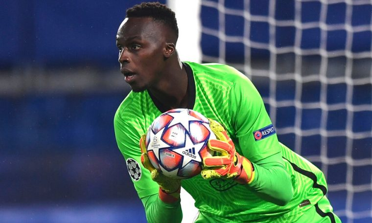 Black goalkeeper and the sky playing field of Europe