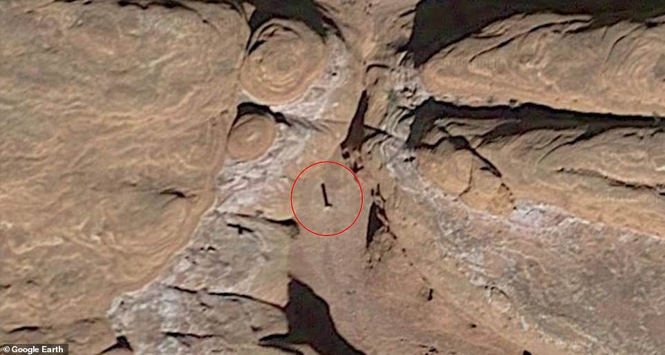 Officials have refused to divulge the location of the Metal Obelisk for fear that curious visitors will be stranded in the remote desert, but Internet policies could still predict its location.  Google Earth images show that it's been here since 2016 or 2015