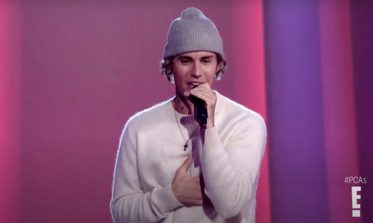 Justin Bieber's performance at the People's Choice Awards 2020