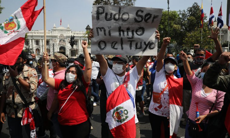 Peru's Congress has elected a central leader as its new leader