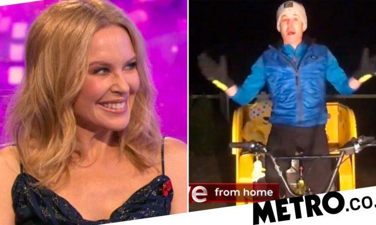 The One Show Rickshaw Challenge: Kylie Minogue Cheers on Matt Baker