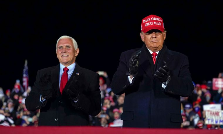 Where's Mike Pence?  Trump administration cancels election deficit