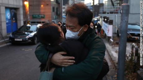 In Seoul, South Korea, on December 3, 2020, a father caught his daughter taking the college entrance exam.