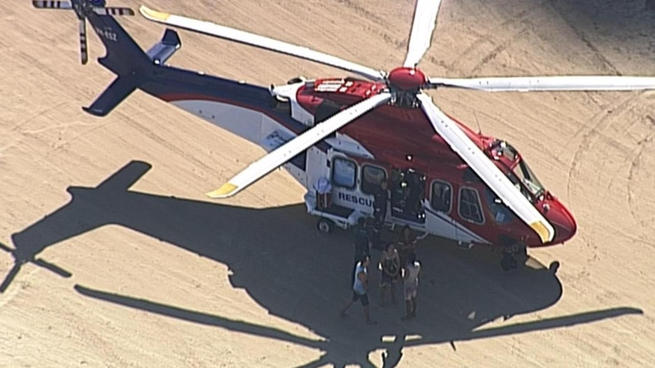 Paramedics were called to Tivah Beach on Nusa North Coast on Saturday.  Picture: 7 News