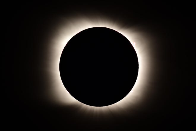 Total solar eclipse observed on December 14, 2020 in Piedra del Acula, semi-Argentina.
