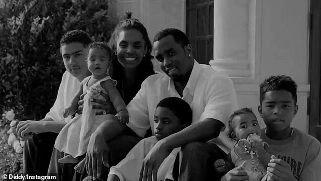 Memories: The clip included family shots two years after Porter's tragic passing