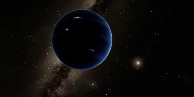 The artist's view of Planet Nine, an imaginary world that some scientists think is too far overlooked in the outer solar system.  (R. Hurt (IPAC) / Caltech)