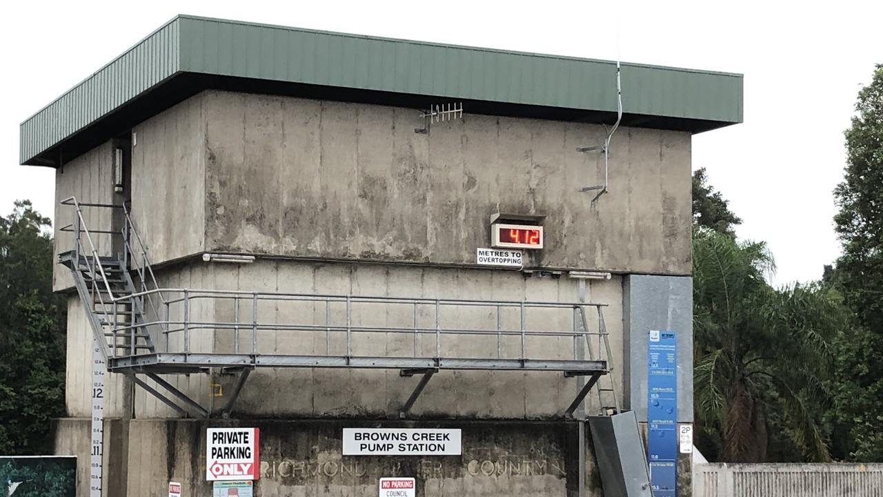 The Brass Creek Pump Station struggled to cope.