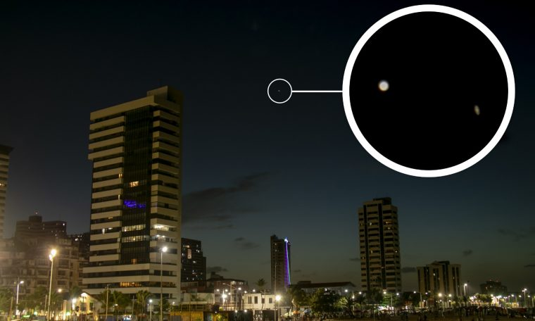 Photos: The alignment between Jupiter and Saturn can be seen in Fortaleza.  The fort