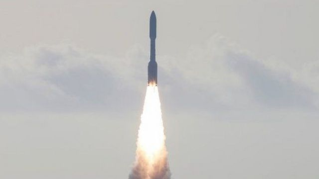 With rocket, the rocket left Earth towards Mars in July 2020