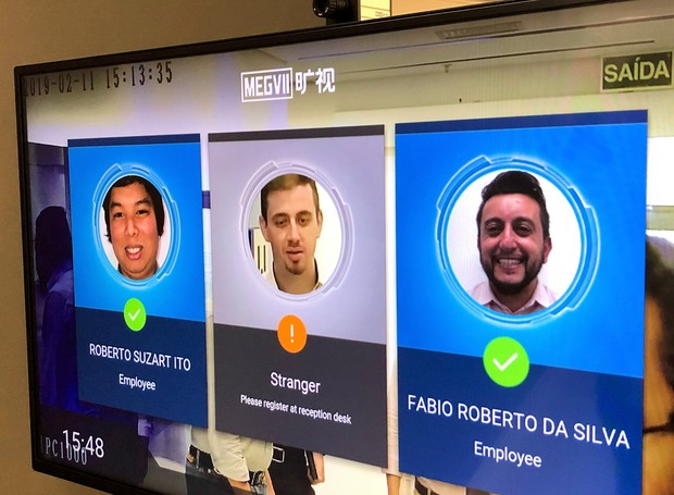 Facial recognition allows you to separate residents and employees from strangers without the need for touch (Photo: disclosure)