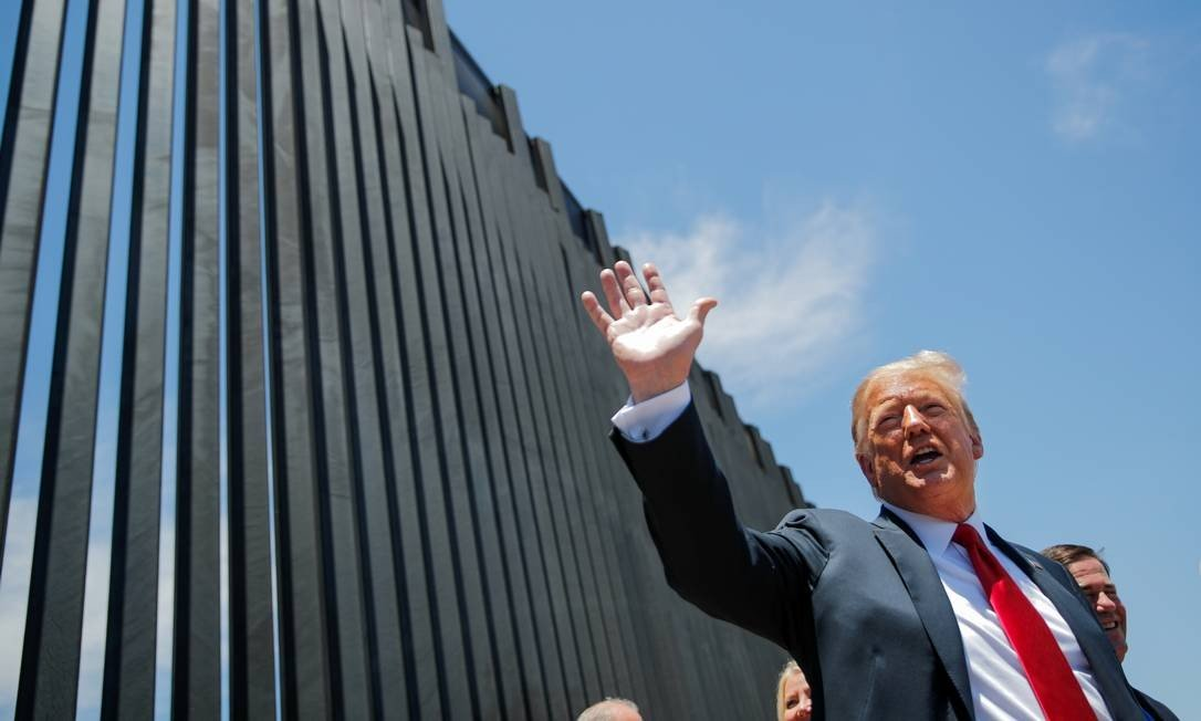Photo of Trump's wall on the border with Mexico before rally in Arizona: CARLOS BARRIA / Reuters - 23/06/20