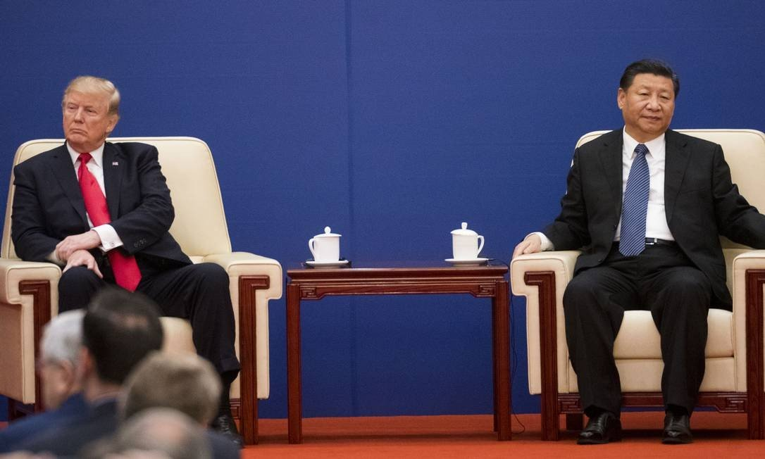 US President Donald Trump and China Xi Jinping at a summit meeting in Beijing in 2017.  Rising rivalry between countries Photo: DOUG MILLS / NYT - 11/09/2017