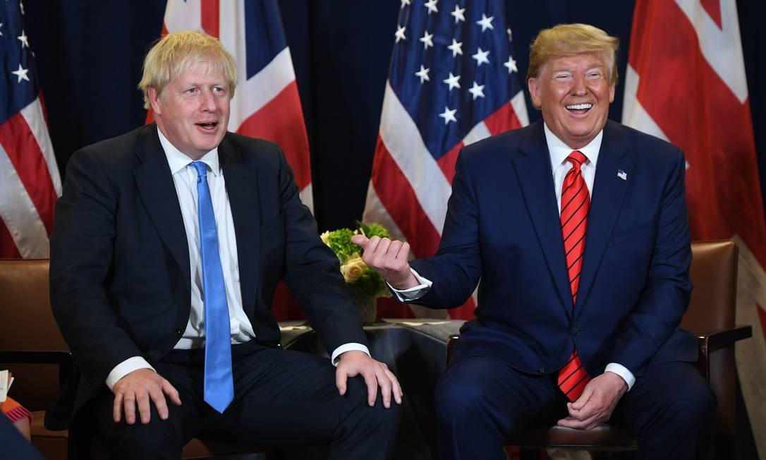 UK Prime Minister Boris Johnson and Trump at a meeting in New York during the United Nations General Assembly Photo: SAUL LOEB / AFP - 19/09/2019