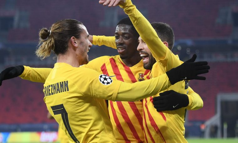 Antoine Griezmann scored again as Barcelona overtook Ferencvaros in the Champions League.