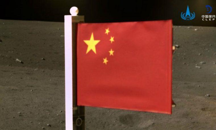 China hoisted the flag on the moon