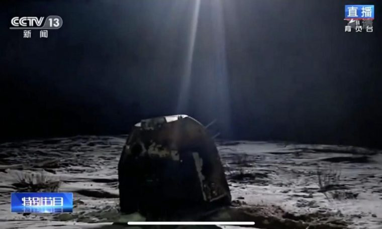 Moon rocks reach Earth for the first time since 1976 when China's lunar mission ends