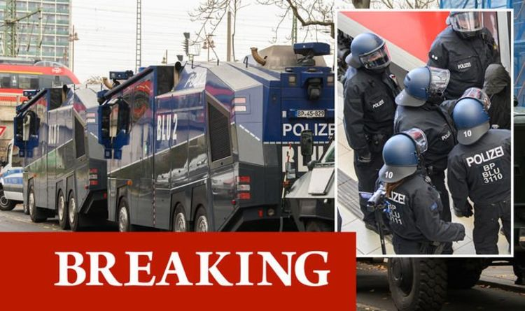 Police armed with guns, water riots in: Blaze in protests in Germany Dresden |  World |  News