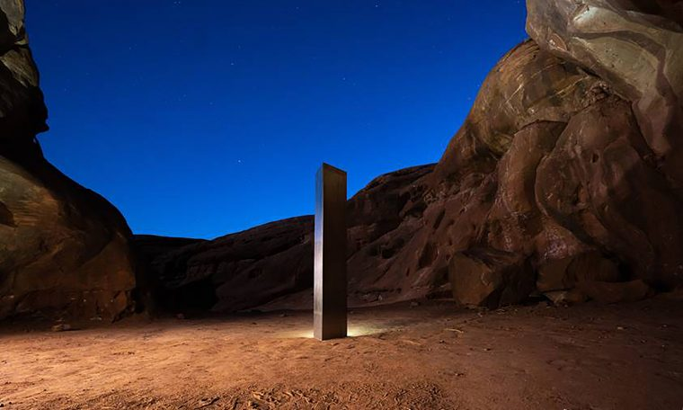 Mysterious silver monolith disappears from Utah desert