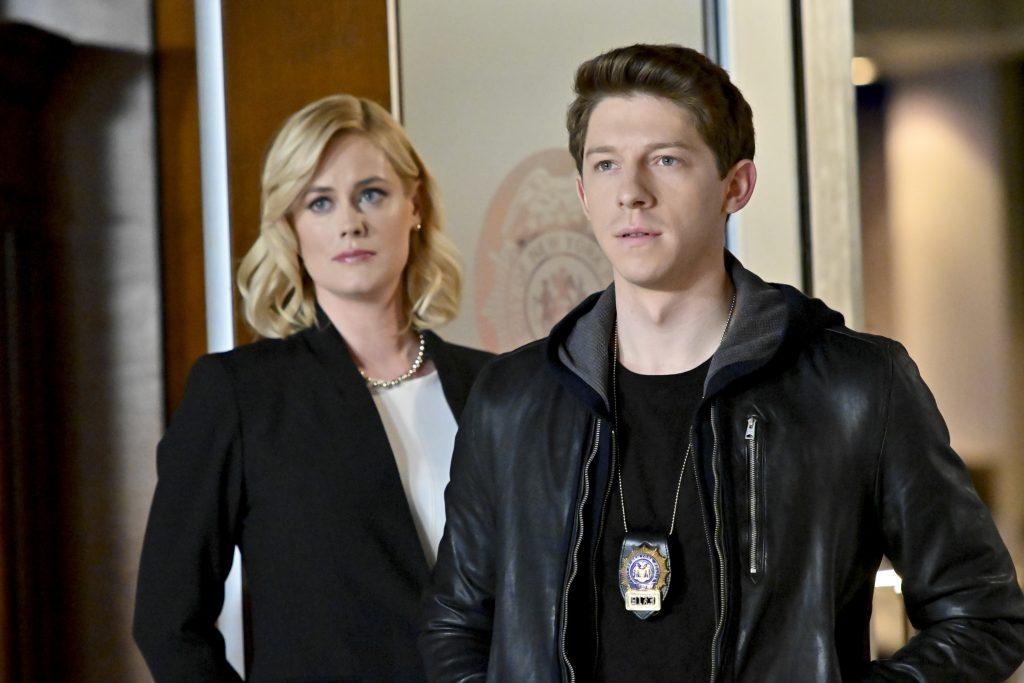 Abigail Hawk and Will Hochman on the Blue Blood set  John Paul Filo / CBS by Gotti Images