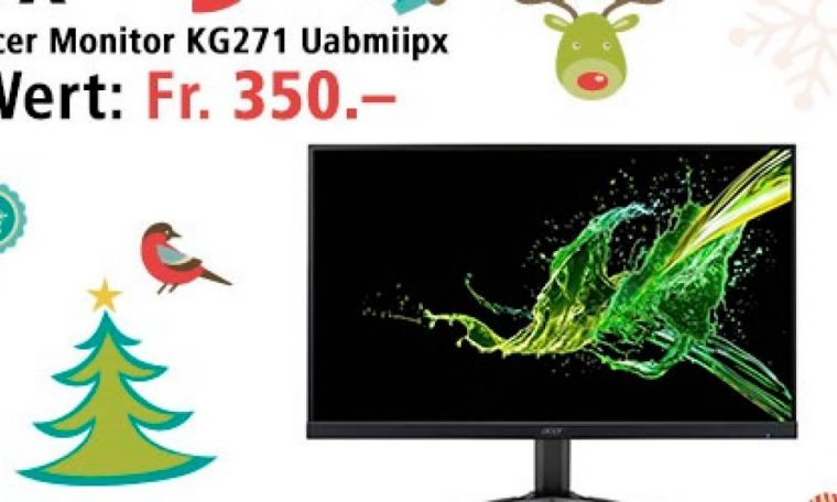 Win Acer Gaming Monitor on December 22